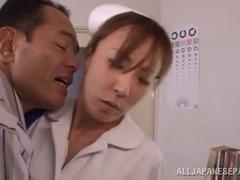 Reiko Sawamura naughty Japanese nurse is cock addict