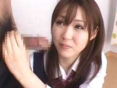 Incredible Japanese girl in Best Threesomes, Blowjob/Fera JAV clip