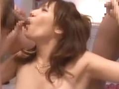 Horny Japanese chick Akina Ishiki in Hottest Facial, DP/Futa-ana JAV clip