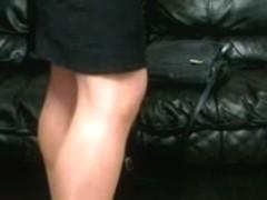 Flight Attendant in uniform & pantyhose - teaser!