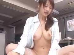 Horny Japanese chick Karin in Incredible Office, Cunnilingus JAV video