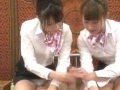 Crazy Japanese chick Hinata Tachibana, Hiyori Wakaba, Eri Ouka in Horny Handjobs, Threesomes JAV m.
