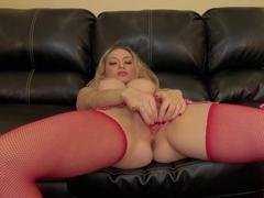 Best pornstar Aiden Starr in Exotic Blonde, Stockings porn scene