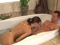 Best pornstar Katie Jordan in Fabulous Showers, Blowjob adult video