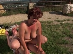 Sweet mature lady Manyika fucking with a boy