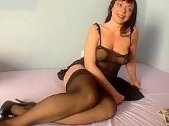 Natalia black stockings