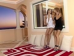 Elegant lesbians in high heels