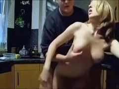 Amateur fuck slut in the kitchen
