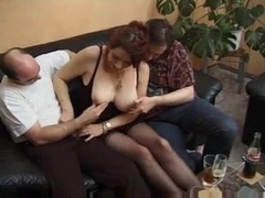 Group sex with aged honeys - two