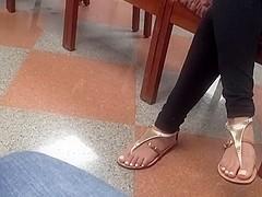 Candid lounge feet