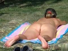 Naked angel sunbathing gazoo