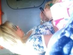 spy mature in bus romanian