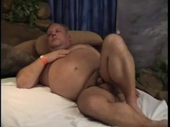 Big Fat Chubby Guy finds a hook up