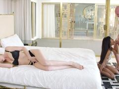 VIXEN Kendra Sunderland Shares a huge cock with her friend