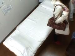 Asian girl gets the deep spy cam massage of bushy pussy