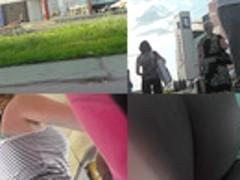 Bubble ass under mini skirt in hot upskirt video