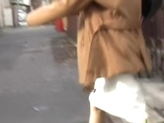 Unfortunate Asian milf got skirt sharked on her way home