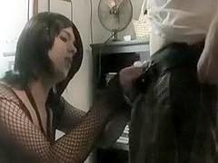 Lovely Crossdresser Sucks Teen Dick