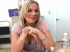 Honry blonde Kate Frost is eager for some real cock to fuck her