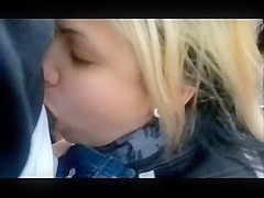 Swedish golden-haired  give her bf oral stimulation outdoor