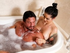 Katrina Jade, Tommy Gunn in Holiday Highlight Scene