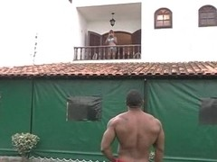 Ass Toyed Guy Drilling White Shemale