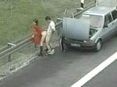 Public Freeway Fuck