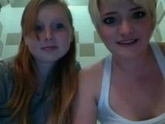 Two lesbians having a bath