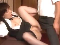 Incredible Japanese model Asami Hoshikawa in Fabulous Doggy Style, Stockings/Pansuto JAV video