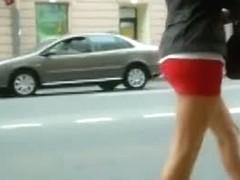 Hot young teen upskirt panties video