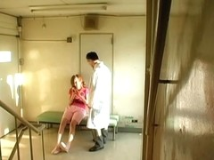 Japanese doctor fucked a nurse in the clinic.s hall