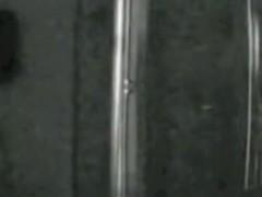 Spy cam shower vid with girl hiding body under towel