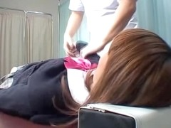 Skinny Jap enjoys a dirty massage on spy cam video