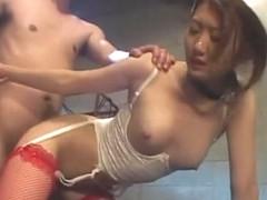 Horny Japanese slut Chocolate Sato in Crazy Lingerie, BDSM JAV clip