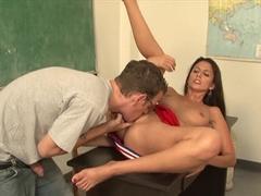 Fabulous pornstar Nikki Daniels in best college, fetish porn scene
