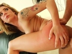 Bailey Blue gets her face plastered with thick cum