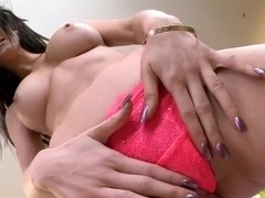 Slutty Kendall Lust opens her sweet pussy for toy