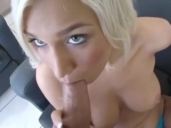Beautiful blonde getting at it
