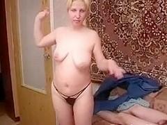 Russian moms Irina - Horny gets some hardcore sex