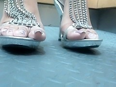 Sexy feet in high heels