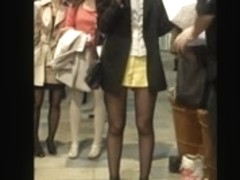 hot legs in pantyhose and skirt