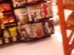 sext ass in grey tights at grocery store
