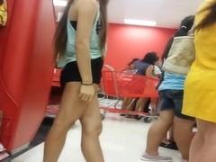 cute young asian girl in shorts 1