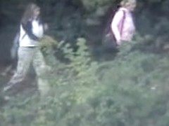 Amateur pissing women were caught on the cam outdoor