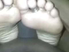 young Indian footjob heeljob