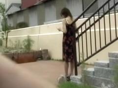 Japanese girl left in her underwear after public sharking