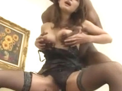 Fabulous Japanese whore Azumi Harusaki in Hottest Lingerie, Dildos/Toys JAV video