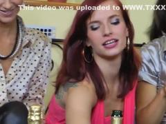 Hottest pornstars Ashley Woods, Natalie Houston and Jenna Lovely in fabulous redhead, brazilian se.