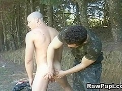 Gay Latin Soldiers Bareback Action