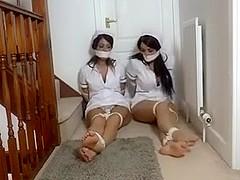 Buxom Nurses in Bondage